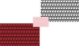 Modello di punto del quadrato rosso e di monocromio Fotografia Stock