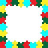 Modello di puzzle della pagina Fotografia Stock Libera da Diritti