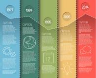 Modello di rapporto di cronologia di Infographic Fotografia Stock Libera da Diritti