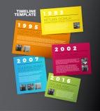 Modello di rapporto di cronologia di tipografia di Infographic di vettore Fotografia Stock
