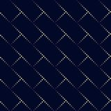 Modello di rettangolo del punto Fondo geometrico di vettore nel semitono Fotografia Stock Libera da Diritti