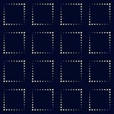 Modello di rettangolo del punto Fondo geometrico di vettore nel semitono s Immagine Stock Libera da Diritti