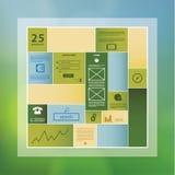Modello di rettangolo di progettazione moderna con spazio per il vostro contenuto.  illustrazione vettoriale