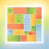 Modello di rettangolo di progettazione moderna con spazio per il vostro contenuto. Bl Fotografia Stock