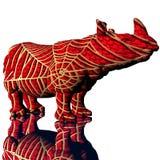 modello di rino 3d con pelle modifyed Fotografia Stock