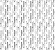 Modello di ripetizione bianco delle linee seamless Fotografie Stock Libere da Diritti