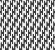 Modello di ripetizione in bianco e nero delle linee seamless Fotografie Stock