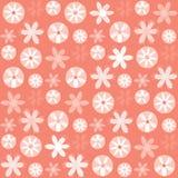 Modello di ripetizione di Coral Flowers Polka Dots Seamless di vettore illustrazione vettoriale