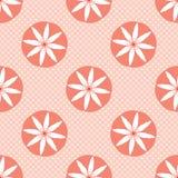 Modello di ripetizione di Coral Flowers Polka Dots Seamless di vettore royalty illustrazione gratis