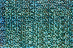 Modello di ripetizione del damasco stampato oggetto d'antiquariato Fotografia Stock