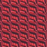 Modello di ripetizione isometrico elegante rosso con lo sguardo della costruzione illustrazione vettoriale