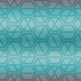 Modello di ripetizione senza cuciture geometrico con l'esagono e le linee nel colore blu Fotografia Stock Libera da Diritti