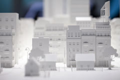 Modello di scala Building Immagine Stock