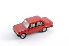 Modello di scala dell'accumulazione dell'automobile rossa Immagini Stock Libere da Diritti