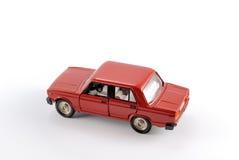 Modello di scala dell'accumulazione dell'automobile rossa Fotografia Stock