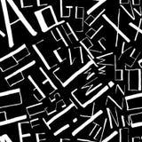 Modello di scarabocchio dei simboli tipografici Fotografie Stock Libere da Diritti