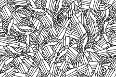 Modello di scarabocchio di Birdwings Fotografia Stock Libera da Diritti