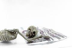 Modello di scheletro della Tailandia dei soldi su fondo bianco Immagini Stock Libere da Diritti