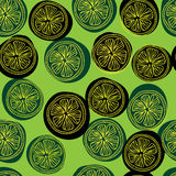 Modello di Seamess con le fette del limone Fotografia Stock Libera da Diritti