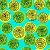 Modello di Seamess con le fette del limone Immagine Stock Libera da Diritti