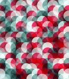 Modello di Seamles dei cerchi grigi e rossi Fotografia Stock Libera da Diritti