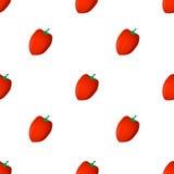 Modello di Seamlesss con peperone dolce rosso Immagini Stock