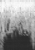 Modello di semitono Formato della copertura A4, modello per il manifesto Immagini Stock