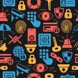 Modello di sicurezza dell'insieme delle icone Immagini Stock Libere da Diritti