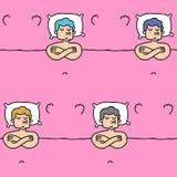 Modello di sogno il tipo sul cuscino dorme struttura Backgr dell'uomo di sonno Fotografie Stock