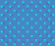 Modello di stelle blu-chiaro Fotografia Stock Libera da Diritti