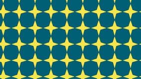 Modello di stelle blu e dorato astratto moderno semplice Fotografia Stock Libera da Diritti