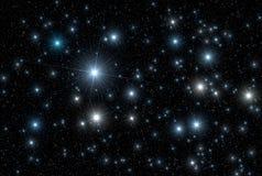 Modello di stelle del cielo dell'universo dello spazio Immagini Stock Libere da Diritti