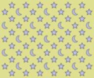 Modello di stelle e delle lune Fotografia Stock