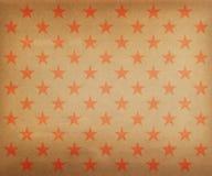 Modello di stelle rosso d'annata Immagine Stock Libera da Diritti