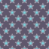 Modello di stelle senza cuciture astratto Fotografia Stock