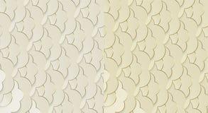 Modello di stile Liberty Ambiti di provenienza dorati Art Deco Patterns Modelli decorativi geometrici motivi 1920-30s royalty illustrazione gratis