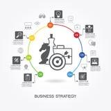 Modello di strategia aziendale Fotografia Stock
