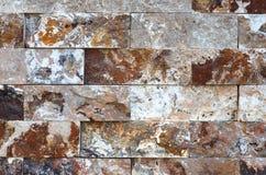 Modello di struttura e del fondo decorativi di pietra di marmo del muro di mattoni Fotografia Stock Libera da Diritti