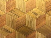 Modello di struttura di esagono o di forma di legno del favo Immagine Stock