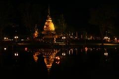 Modello di Sukothai della pagoda Immagine Stock