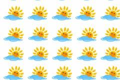 Modello di Sun e della nuvola immagini stock