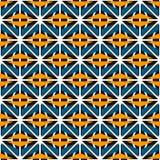 Modello di superficie senza cuciture di stile africano con le figure astratte Forme geometriche luminose di griglia etnica e trib illustrazione vettoriale
