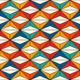 Modello di superficie senza cuciture di stile africano con le figure astratte Stampa etnica luminosa Priorità bassa ornamentale g royalty illustrazione gratis