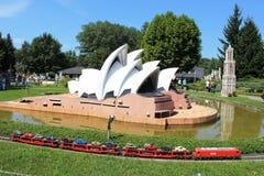 Modello di Sydney Opera House a Minimundus, Klagenfurt Fotografia Stock Libera da Diritti