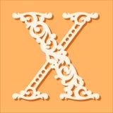 Modello di taglio del laser Lettere iniziali del monogramma Lettera floreale operata di alfabeto royalty illustrazione gratis