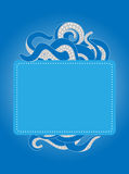 Modello di tentacoli con lo spazio della copia Immagini Stock