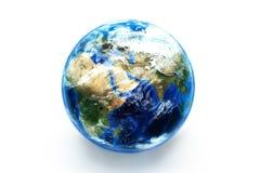 Modello di terra con gli effetti atmosferici Immagine Stock