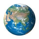 Modello di terra da spazio: Vista dell'Asia Fotografia Stock Libera da Diritti