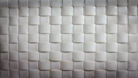 Modello di tessuto di canestro bianco Fotografia Stock Libera da Diritti