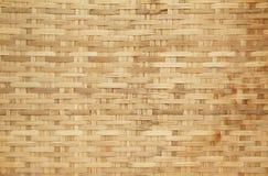 Modello di tessuto di canestro di bambù Fotografie Stock